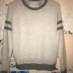 Grey with white long sleeve